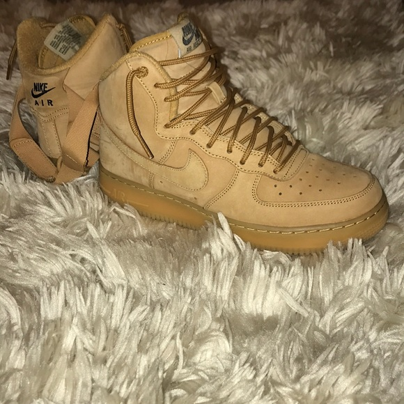 Nike Shoes Wheat Suede High Top Air Force 1 Poshmark